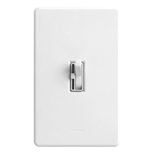 Lutron Switch for dimmable Halogen and Incandescent Bulbs, Single-Pole or 3-Way, AYCL-153P-WH, White