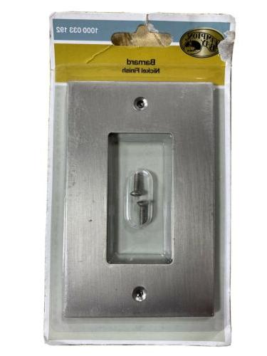 Hampton Bay Barnard Switch Outlet Wall Plate Cover 1 Decora-