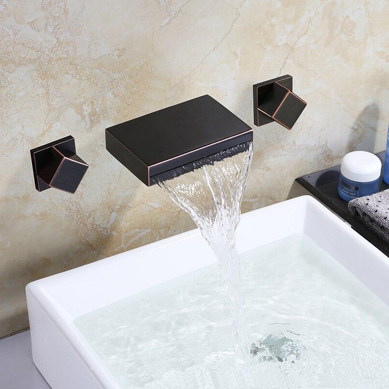 MTTUZK Spout Tub Bath Tap Double Sink Faucet Hot Mixer