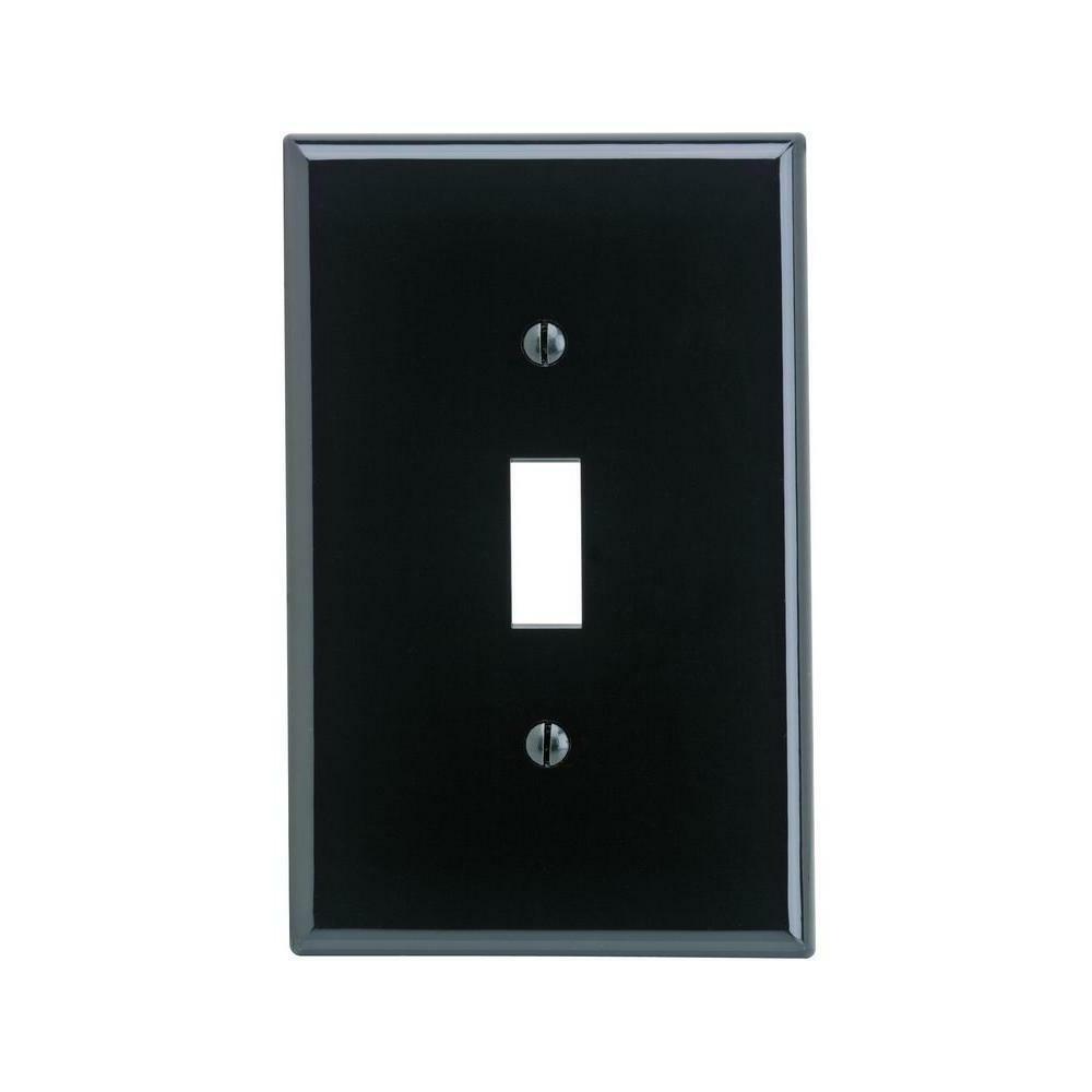 Leviton Black Nylon Plate, Duplex Blank Gang Decoration