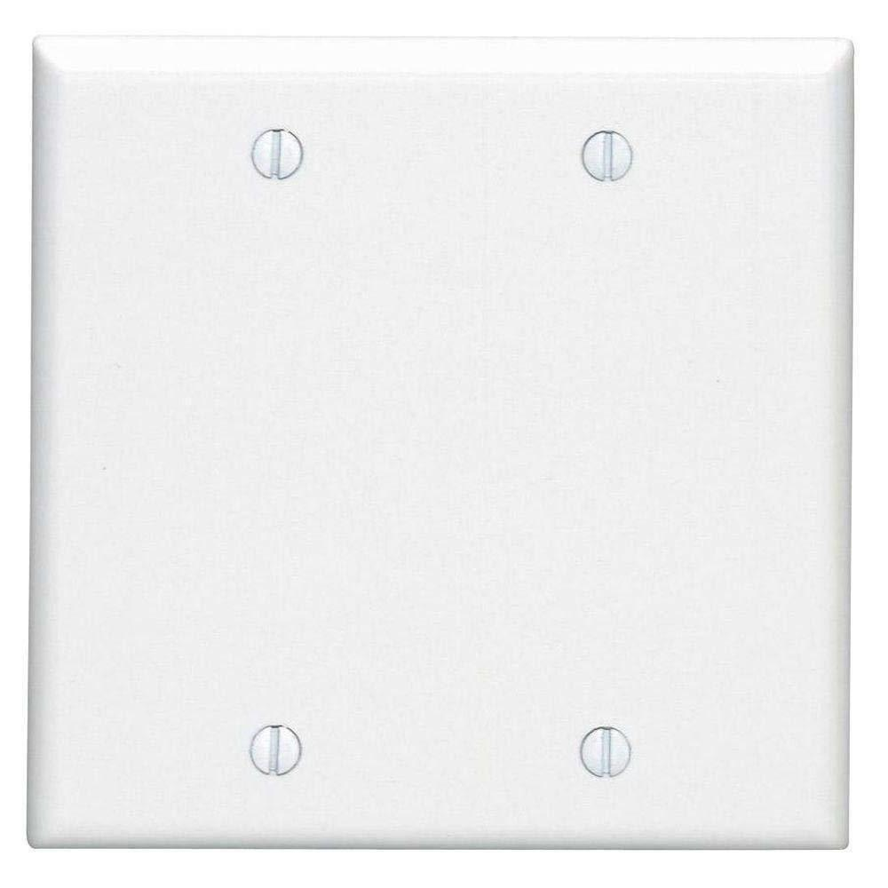 blank face wall plate white plastic cable
