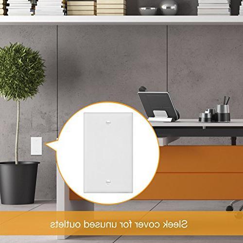 ENERLITES Blank Cover Plate, Standard Polycarbonate