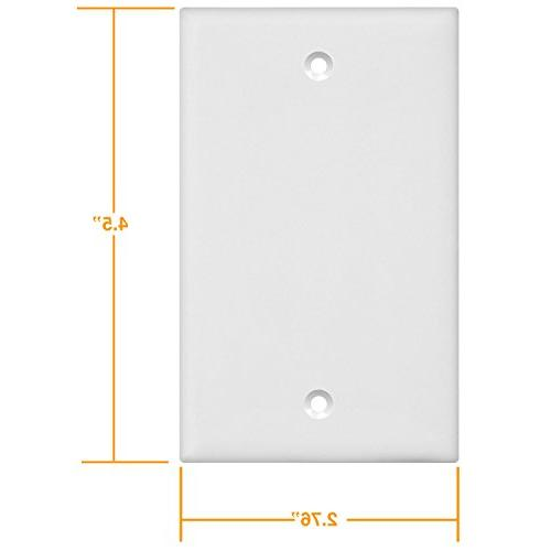 ENERLITES Cover Plate, Polycarbonate 8801-W, White