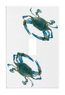 Blue Crab Wallplate Wall Plate Decorative Light Switch Plate