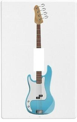 Blue Guitar Wallplate Wall Plate Decorative Light Switch Pla