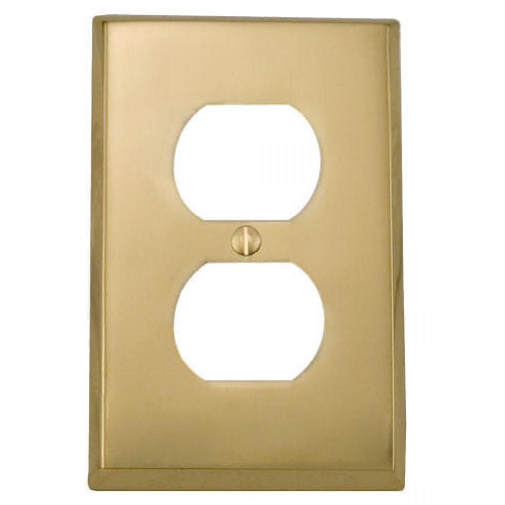brass single duplex wall plate