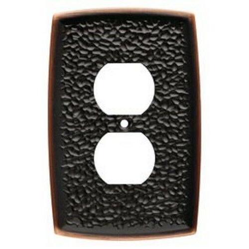 bronze duplex wall plate hammered 144035