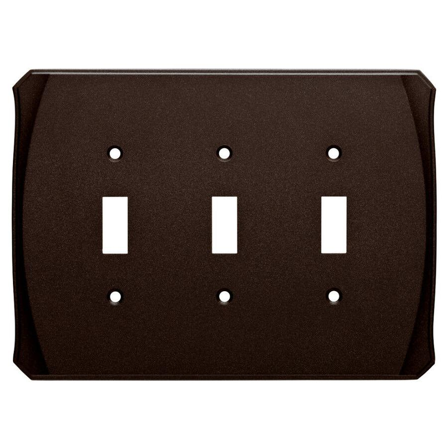 Bronze Triple Toggle Wall Plate Brainerd W34480