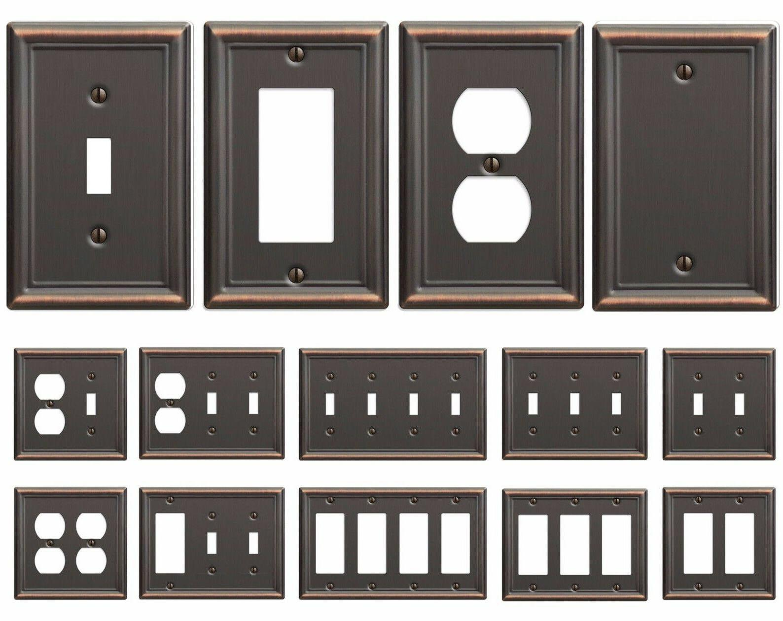 bronze wall switch plate toggle outlet cover