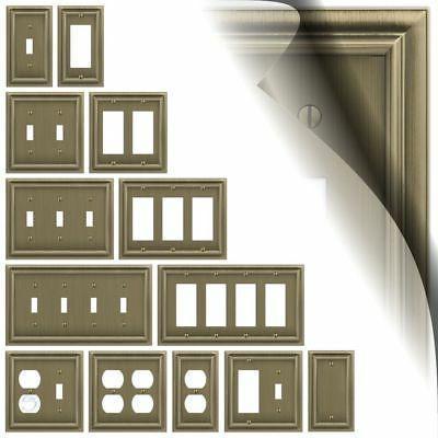 brushed brass switch plate continental wallplate duplex