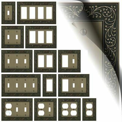 brushed brass switch plates english garden toggle