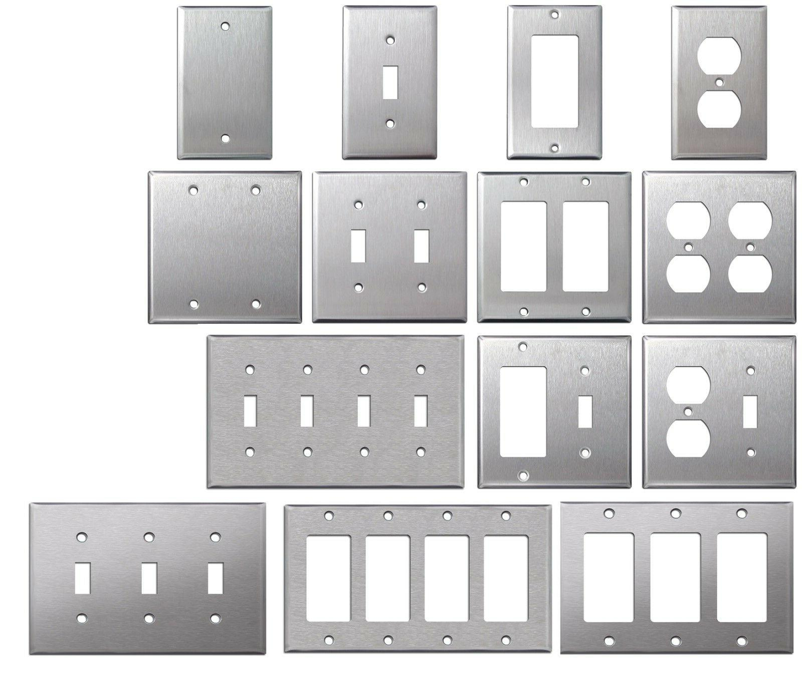 brushed satin nickel stainless steel wall covers