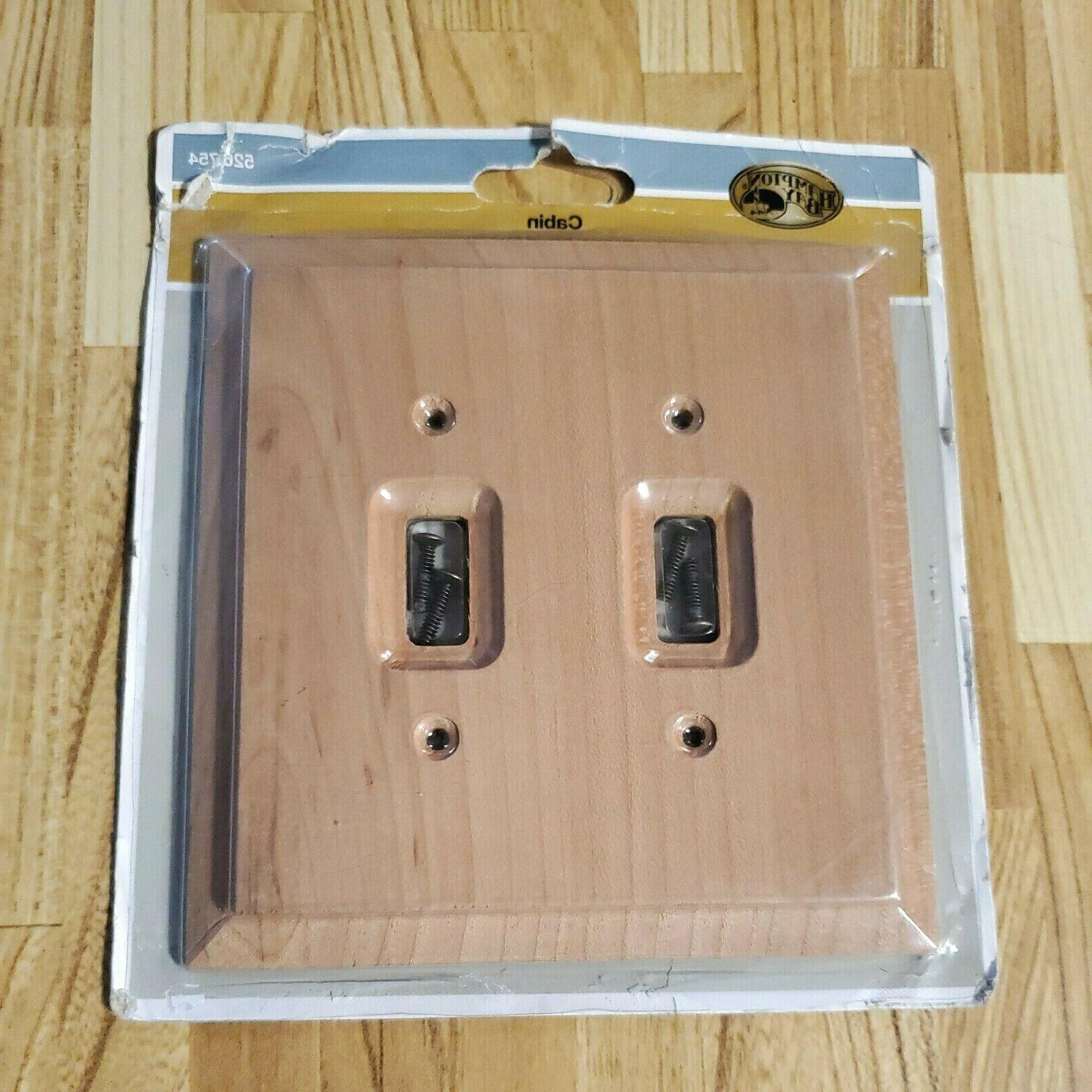 Hampton Bay Cabin 2 Toggle Unfinished Alder Wood Rectangle E