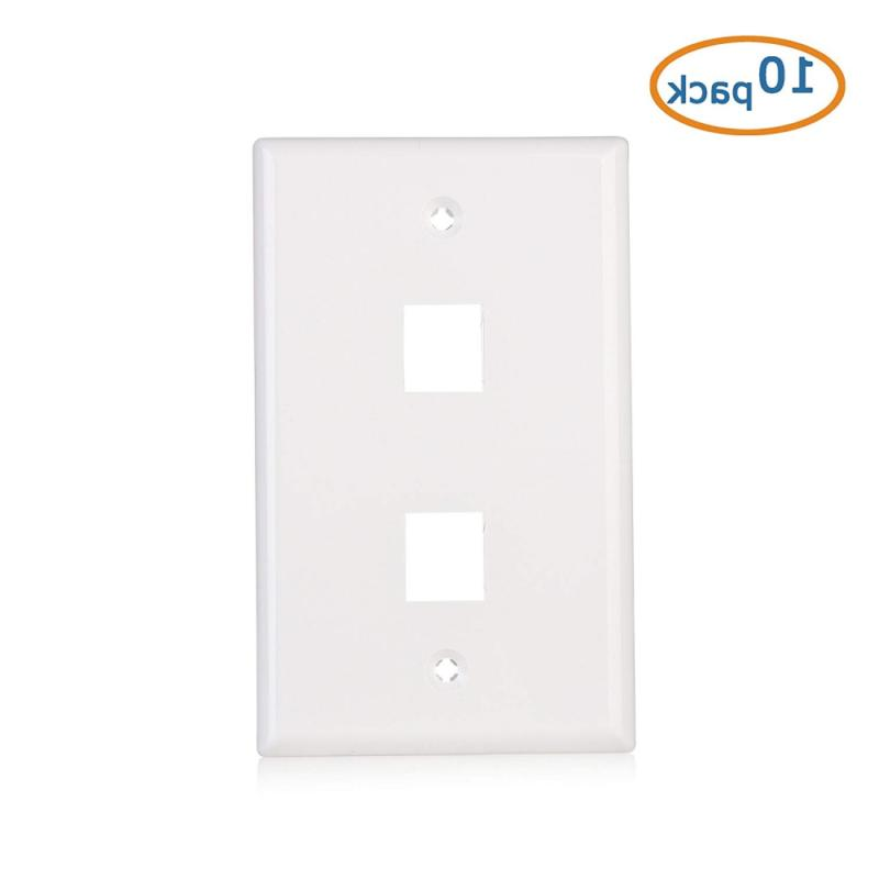 2-Port Wall Plate in White