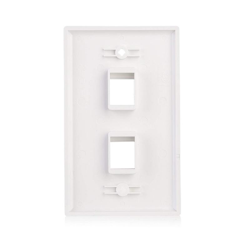 Cable Low 2-Port Jack Wall Plate