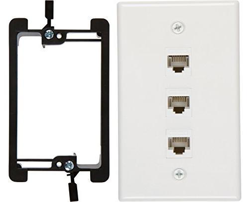 Buyer/'s Point 2 Port Cat6 Wall Plate