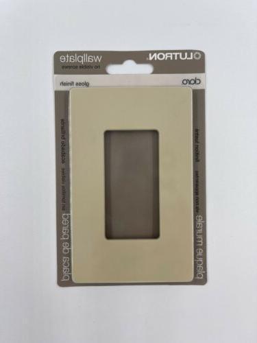 Lutron  Claro  Ivory  1 gang Wall Plate  1 pk Plastic