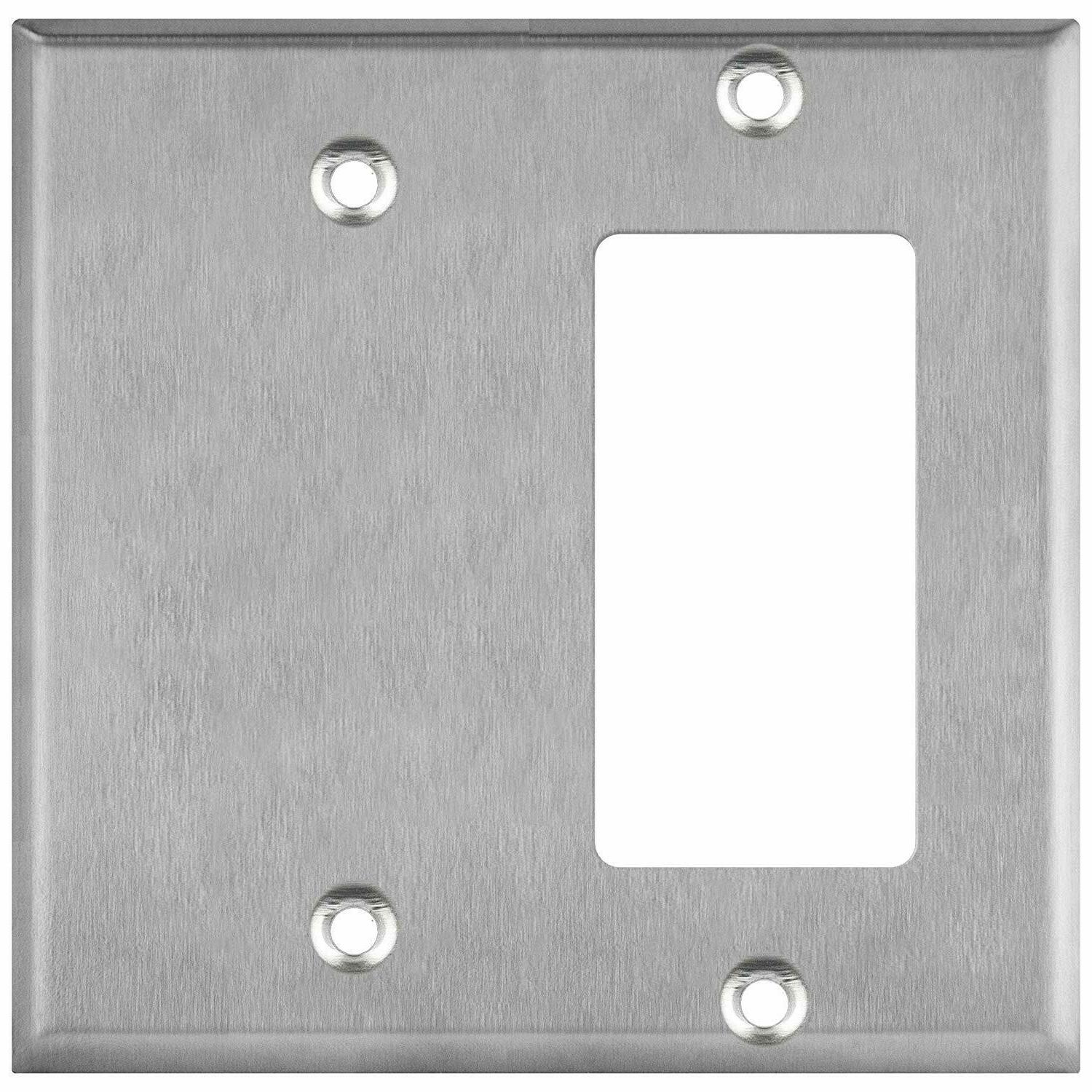 combination wall plate blank decorator switch cover