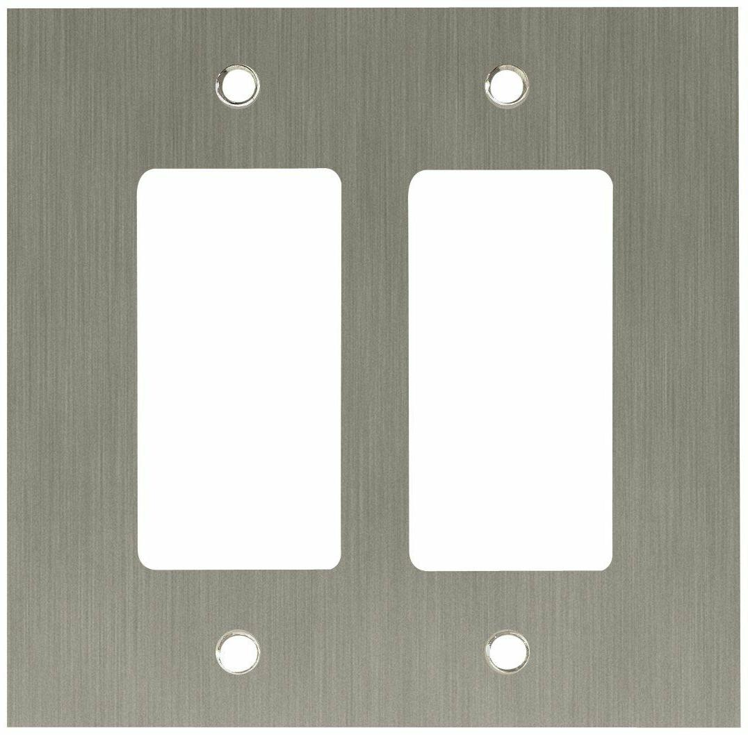 Franklin Brass Concave Double GFCI/Rocker Wall Plate