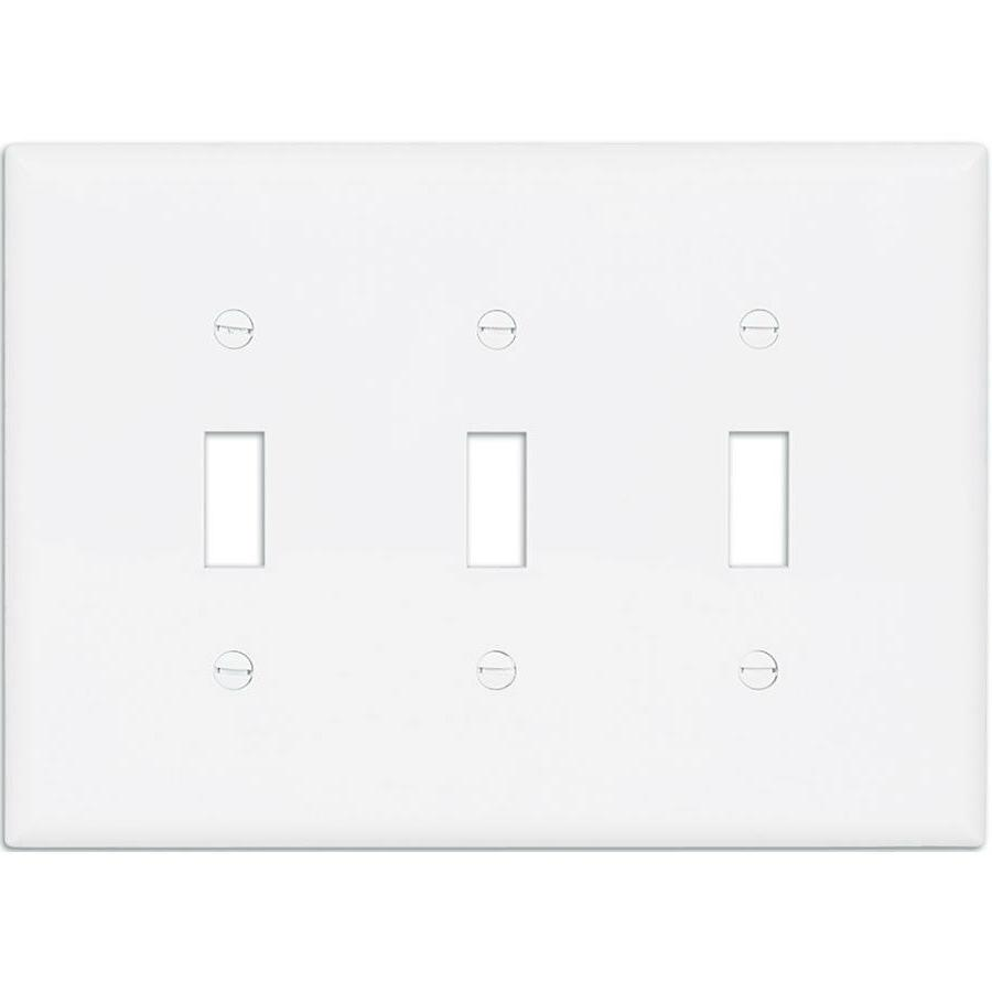 Cooper Eaton 3-Gang White Triple Toggle Wall Plate Plastic L