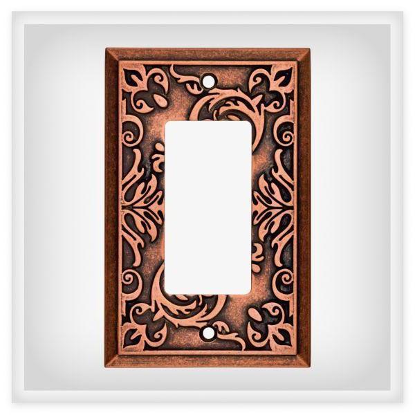 copper decorator wall plate fairhope w27108 cps