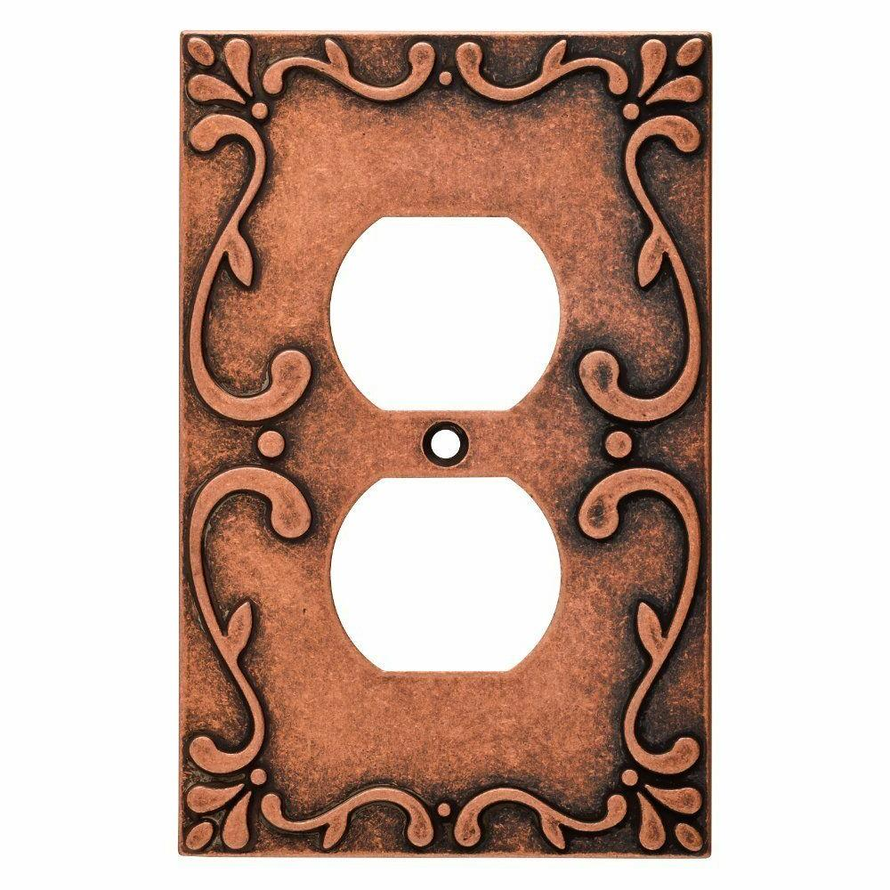 Copper Duplex Wall Plate Classic Lace Franklin Brass W35071V