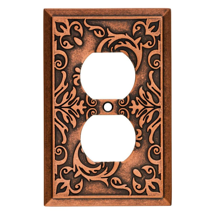 copper duplex wall plate fairhope w27107