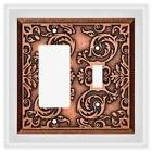 Copper Switch Decorator Wall Plate Fairhope Brainerd W27111-