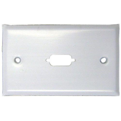 Cable Wholesale DB9 / HD15  Wall Plate Painted Stainless Ste