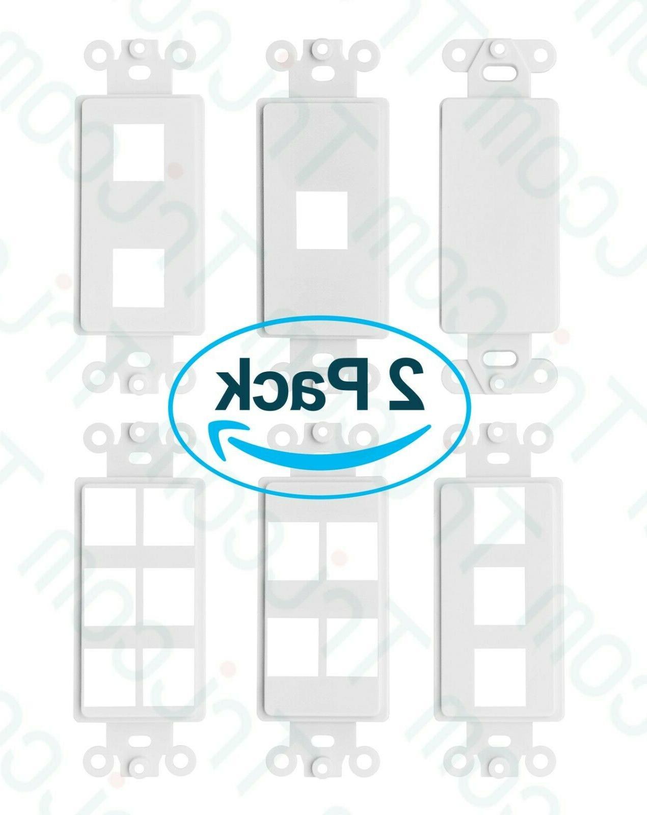 decora rj45 network keystone wall plate insert