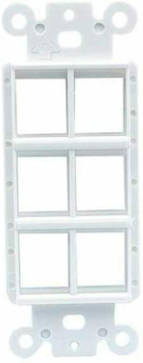 Decora Wall 6 Port Single Outlet Insert White