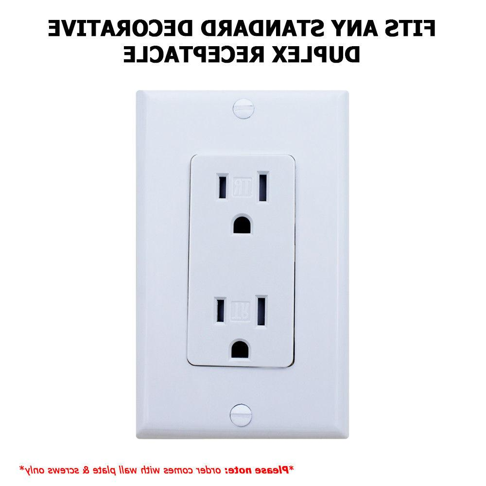 Decora White with for Light Switch Outlet Cover