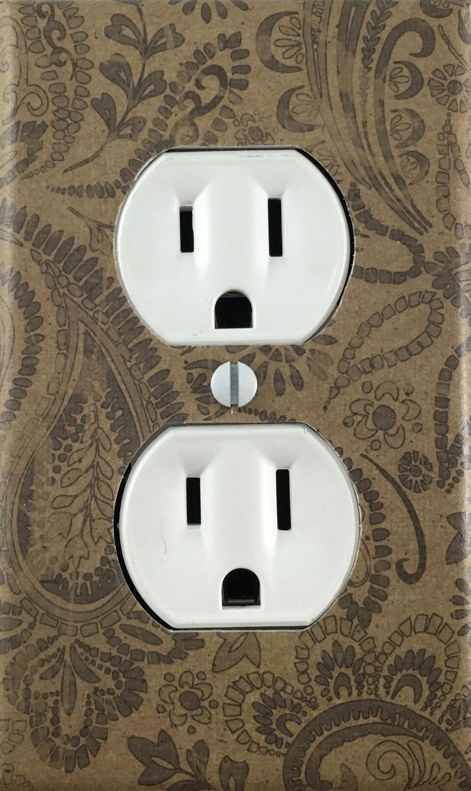 decorative single outlet wall plate black
