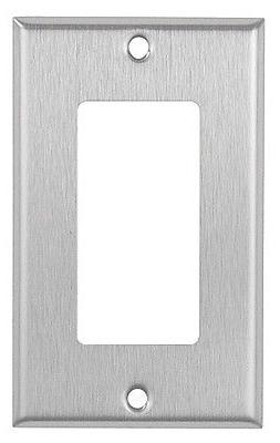 Decorator 1-Gang Stainless Steel Wall Plate Metal Decora Wa