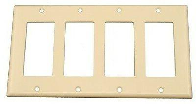 decorator 4 gang wall plate cover ivory