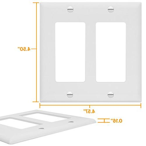 Enerlites Light Outlet Wall Plate, Standard Size White 8832-W