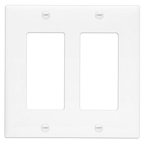 Outlet Size 2-Gang, Polycarbonate Thermoplastic, White