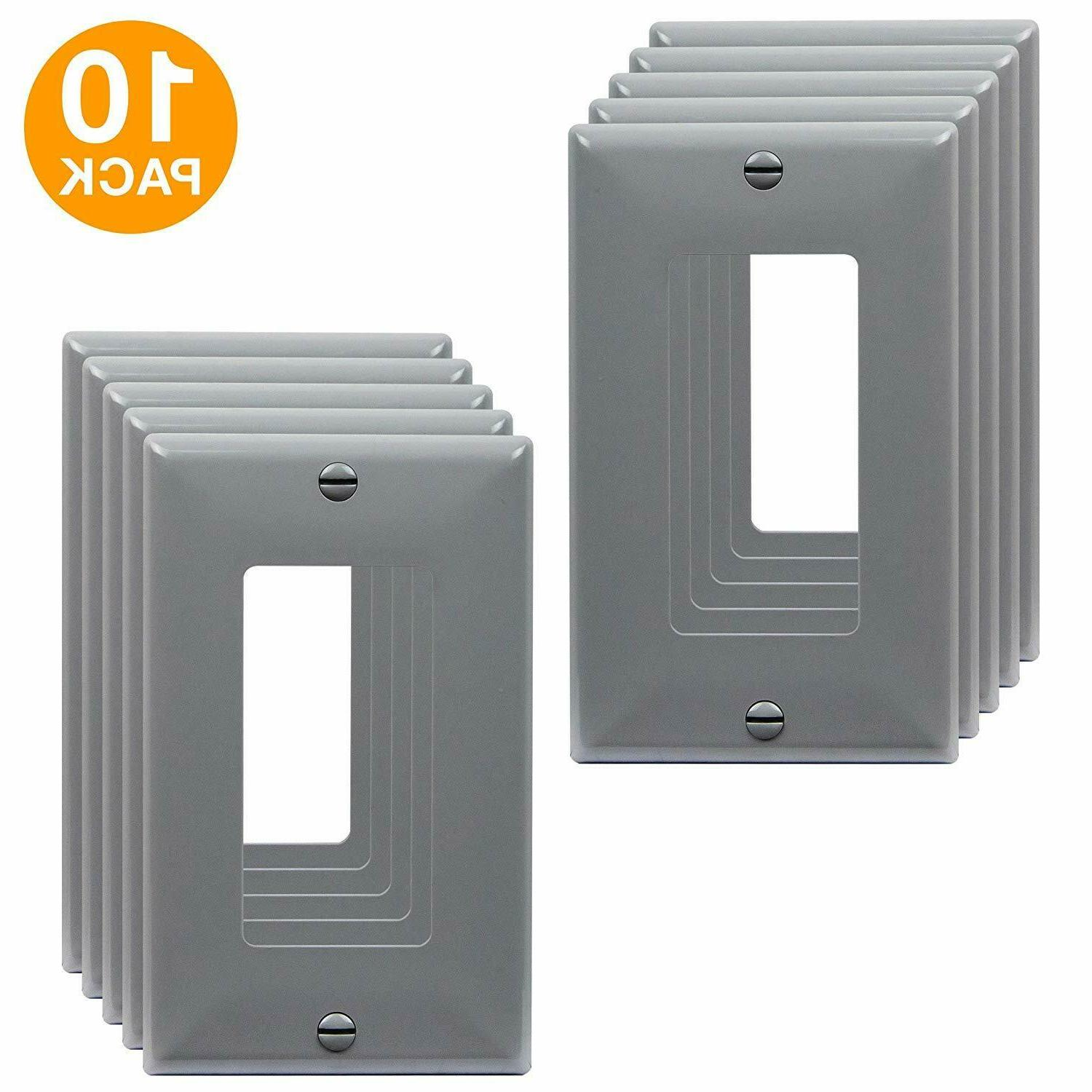 decorator light switch receptacle outlet wall plate