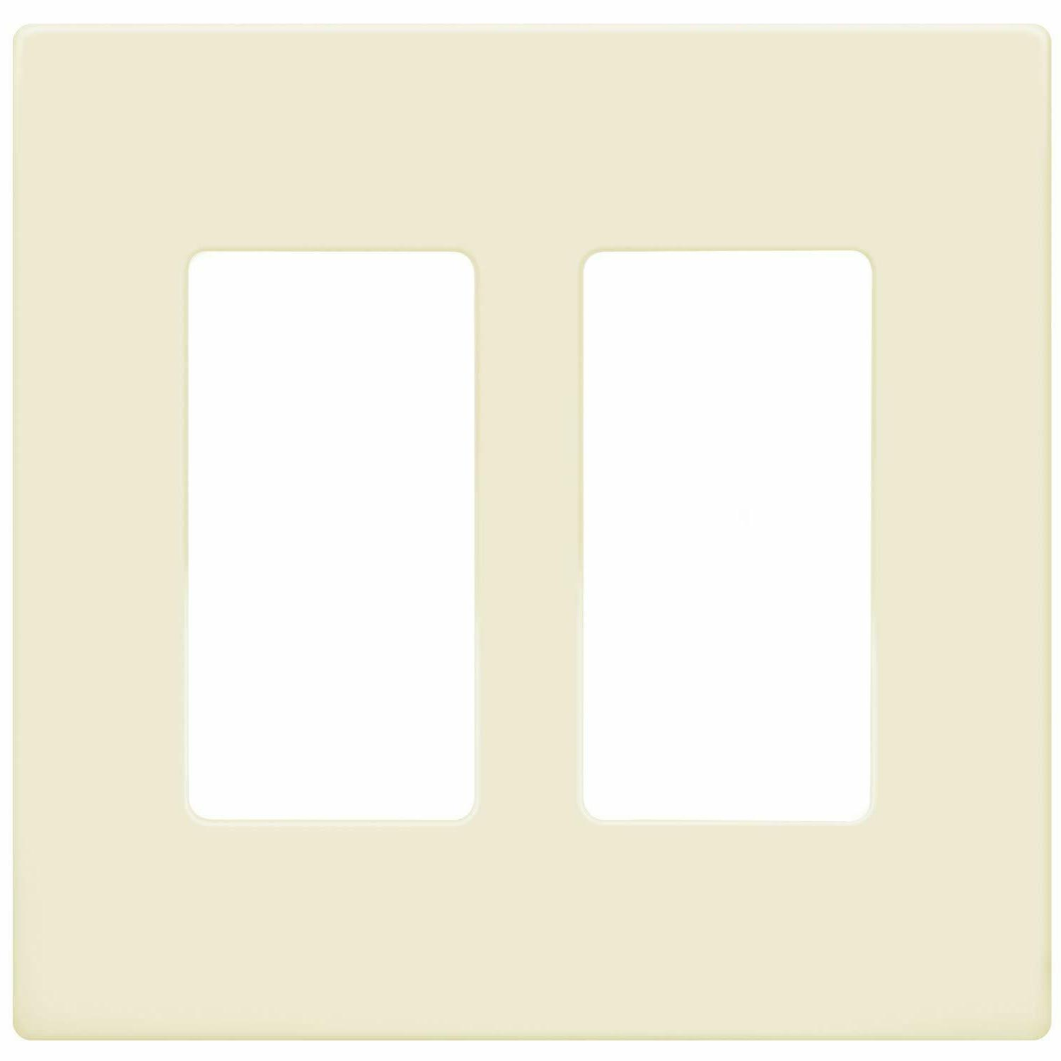 Decorator Screwless 2 Gang Switch Cover