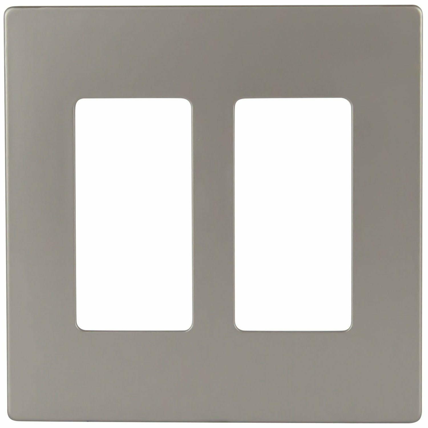Decorator Wall 2 Gang Rocker Switch Cover