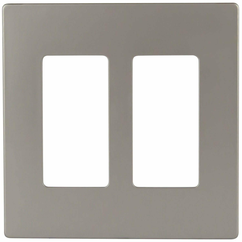 ENERLITES Screwless Plate 2 Gang Cover Polycarbonate