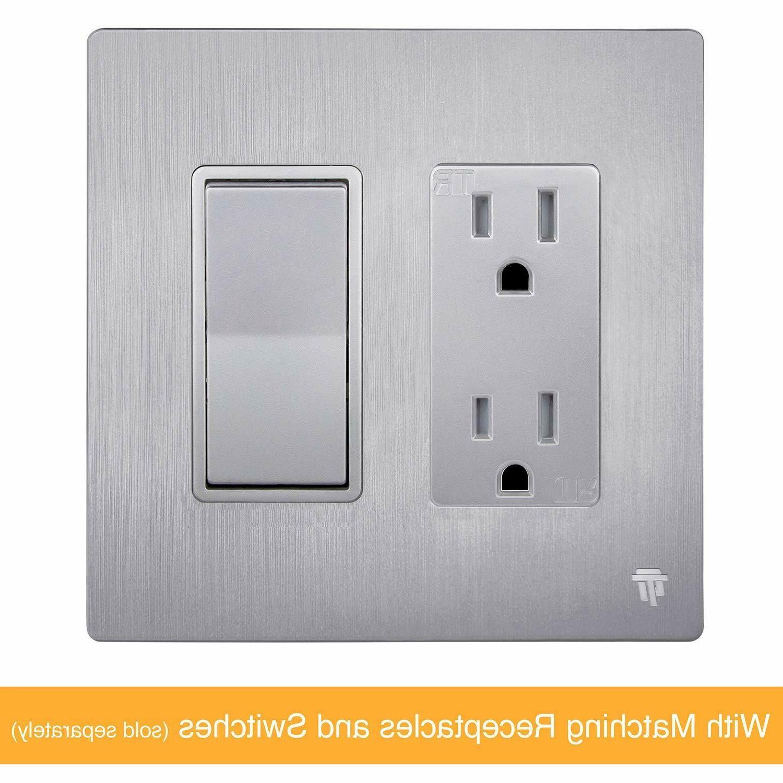 ENERLITES Decorator Plate Cover Polycarbonate