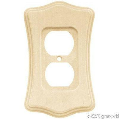 deluxe wood switch wall plate