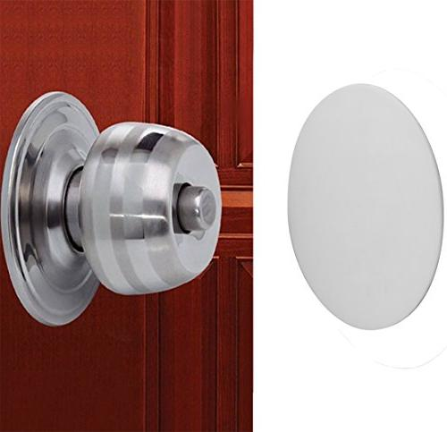 Door Wall , White Soft Rubber Wall Protector Adhesive Pack
