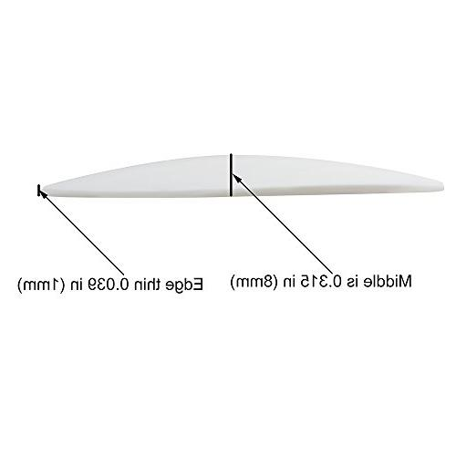 Door Shield , White Soft Rubber Wall Adhesive Door Pack 2