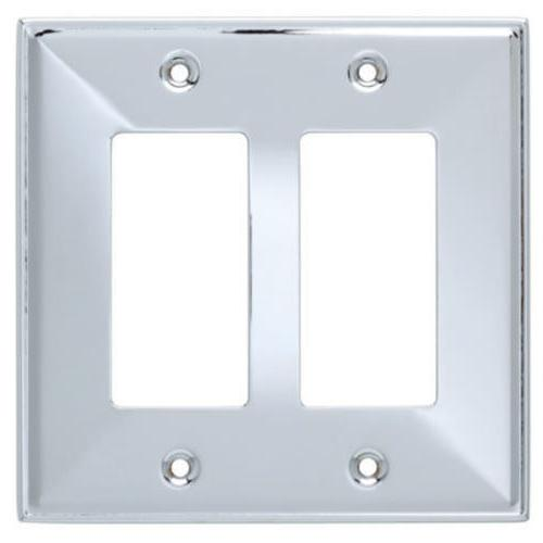 Double Decorator Wall Plate Beverly Franklin Brass 135878