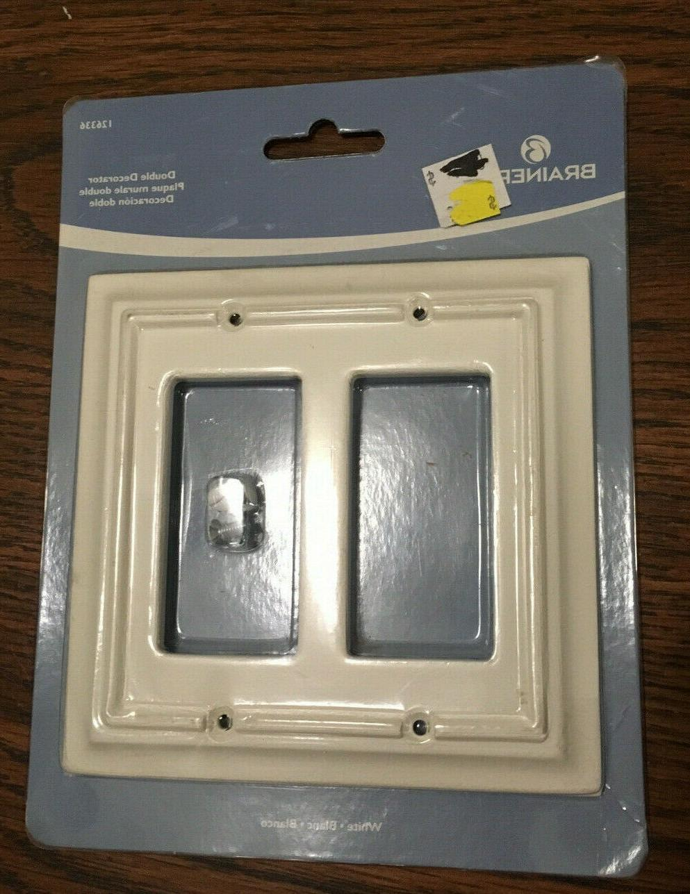 double decorator white wall plate 126336
