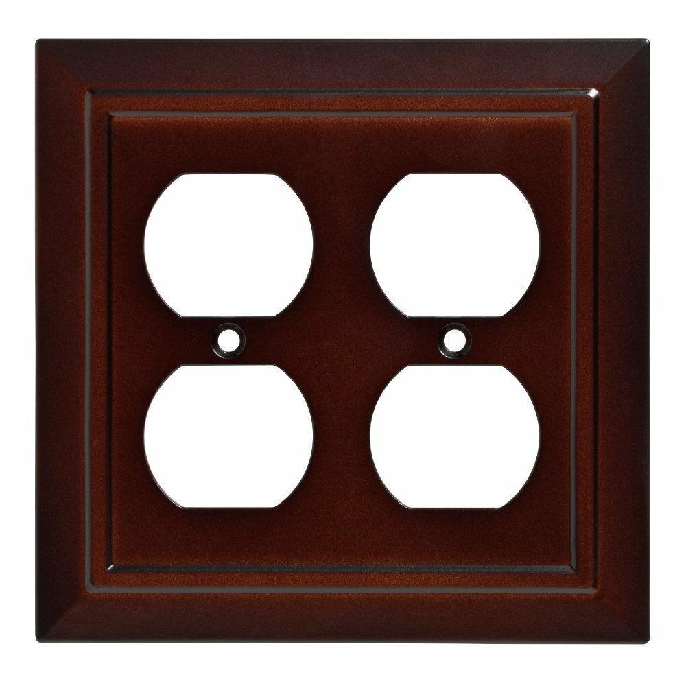 Double Duplex Wall Plate Architectural Espresso Brown Frankl