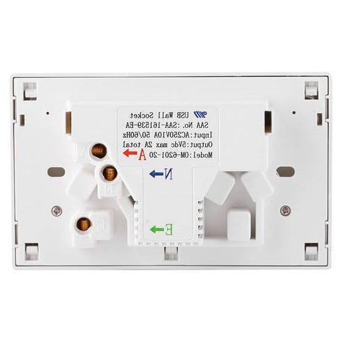 Double Electrical <font><b>Wall</b></font> Socket Australian AU Point <font><b>Improvement</b></font>