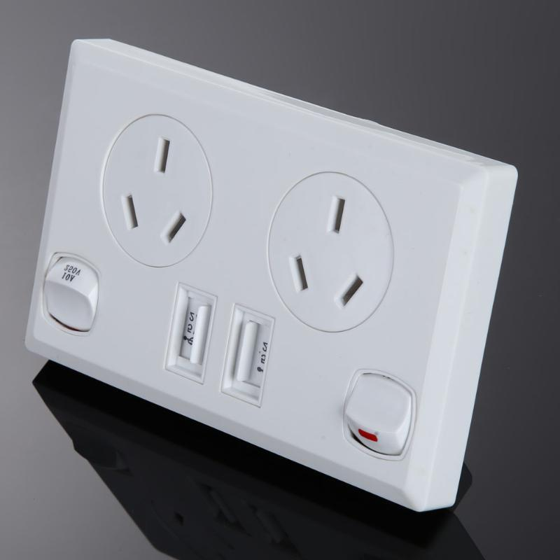 Double USB Plug Electrical <font><b>Home</b></font> Point Supply <font><b>Plate</b></font> 2 Switch <font><b>Improvement</b></font> <font><b>Tools</b></font>